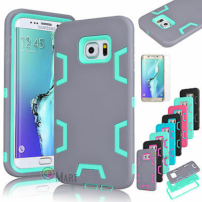 ShockProof Hybrid Rugged Rubber Hard Case Cover For Samsung Galaxy S6 Edge Plus