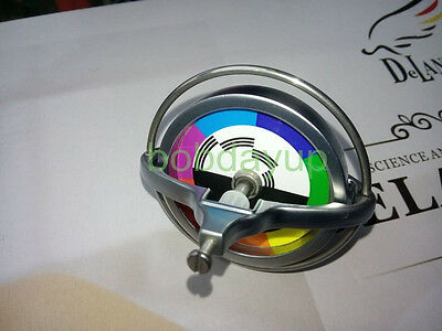 Metal Precision Gyroscope Child Physics Toy Science Colorful Sticker B TL002