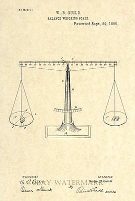 Scales of Justice - Official 1885 Patent Art Print - Attorney Judge Lawyer 45