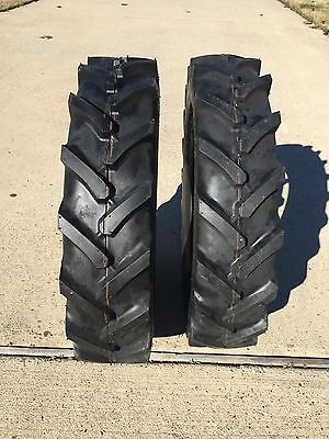 (2) New 600x14 6.00x14 600-14 6.00-14 R-1 LUG farm Tractor Tires