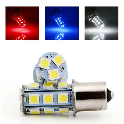 10Pcs 1156 BA15S 5050 18SMD LED RV Camper Trailer Bulbs Interior Light 12V White