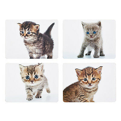 Kitchen Craft Kittens Cork Back Laminated Set of 4 Placemats