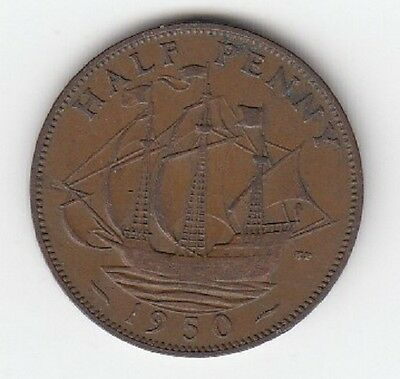 King George VI Halfpenny 1937 to 1952 - CHOOSE YOUR DATE!