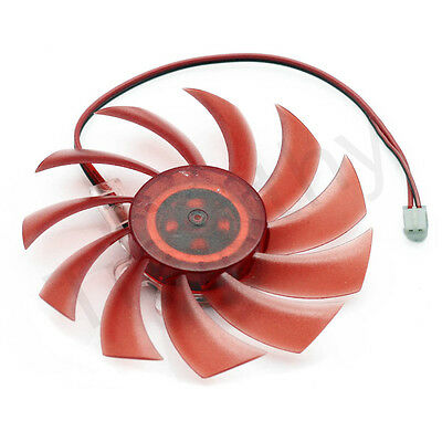 RED PC VGA Video Graphics Card Cooler Cooling Fan 80mm 2pin connector