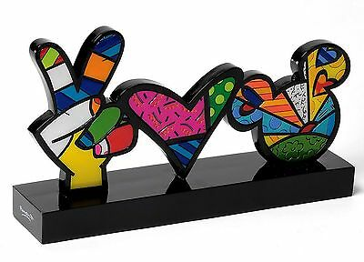 "ROMERO BRITTO - POP ART aus Miami - ""LOVE & PEACE SKULPTUR"" Figur 4025570 NEU !!"