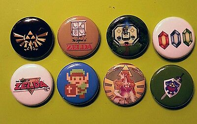 8 1 inch Legend of Zelda pinback badges buttons