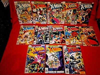 UNCANNY X-MEN 109 1st WEAPON ALPHA 110 -120 111 112 113 114 115 116 117 118 119