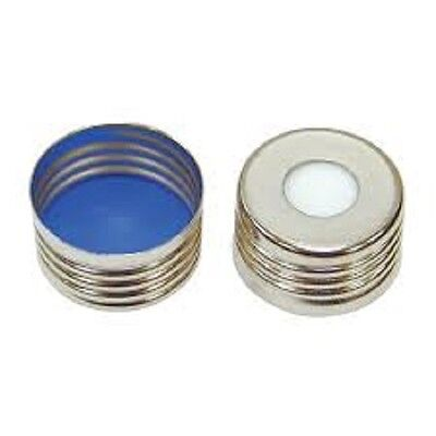 ND18 mm Magnetic Screw thread cap 8 mm Hole with Blue PTFE/white Selicon Septa