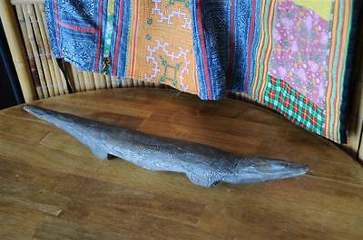 Old Australian Aboriginal Carved Hardwood Goanna… for yr Australianna collection