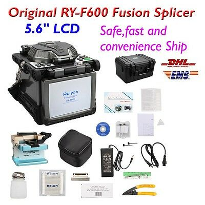 "RY-F600 Fusion Splicer w/Optical Fiber Cleaver Automatic Focus Function 5.6"" New"