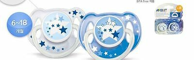 Philips Avent Glow In The Dark Night Time Soothers 6-18 Months 2 Pack Scf176 22