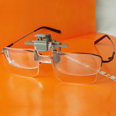 Glasses Style Magnifier with Clip for Wearing glasses Person Reading