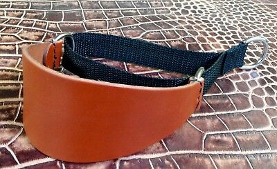 LM2 Leather/Webbing Martingale Dog Collar Lurcher/Greyhound Lamping/Coursing