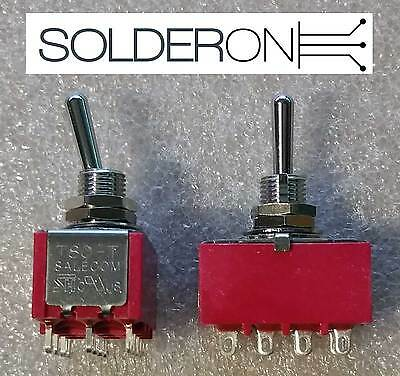 2pcs Mini Toggle Switch 4PDT ON-ON SALECOM S1385