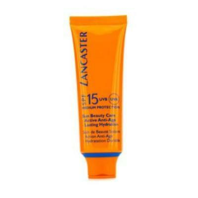 (50,80€/100ml) Lancaster Sun Beauty Care silky Touch Face Cream SPF 15 - Sonnenc