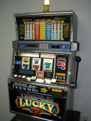 IGT TRIPLE LUCKY 7s S2000 SLOT MACHINE (COINLESS WITH TICKET PRINTER)