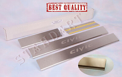 Honda Civic 5d 8 2006-11 Stainless Steel Door Sill Entry Covers Scuff Protectors
