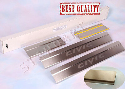 Honda Civic 5d IX 2012- Stainless Steel Door Sill Entry Covers Scuff Protectors