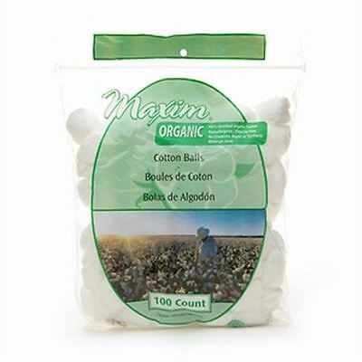Maxim Hygiene Products Organic Cotton Balls, Jumbo Size 100 ea (Pack of 9)