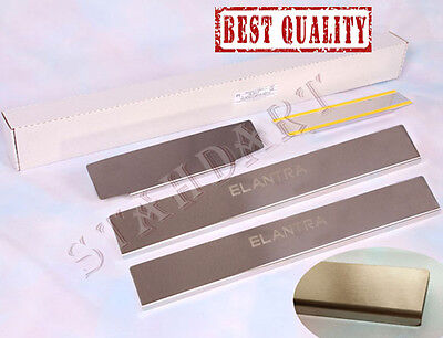 Hyundai Elantra MD 2012-2015 Stainless Steel Door Sill Covers Scuff Protectors