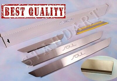 KIA SOUL 2009-2013 4pcs Stainless Steel Door Sill Guard Covers Scuff Protectors