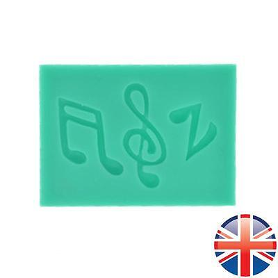 *UK Seller* Silicone Music Notes Fondant Icing Cake Chocolate Topper Mould Mold