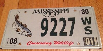 Us mississippi license plates automobilia for Ms fishing license
