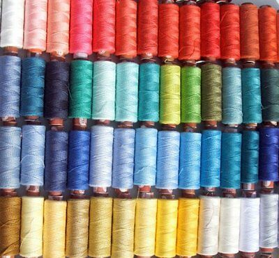 100 Large Assorted 100% Polyester Sewing Thread Spools By Coats,J&P Coats New