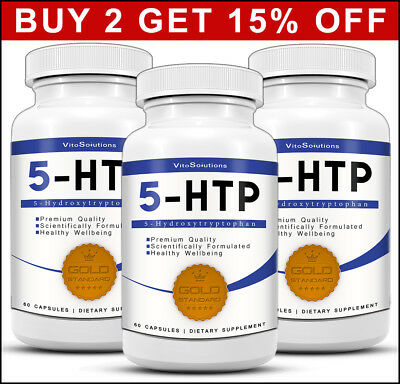 5-HTP 100mg - 180 Capsules - Mood Booster Sleep Support  - Stress Relief - 5HTP