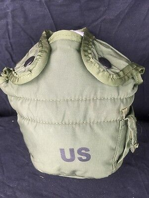 US Military Surplus 1QT Water Canteen Cover Carrier LC-2 For 1 Quart Olive Drab