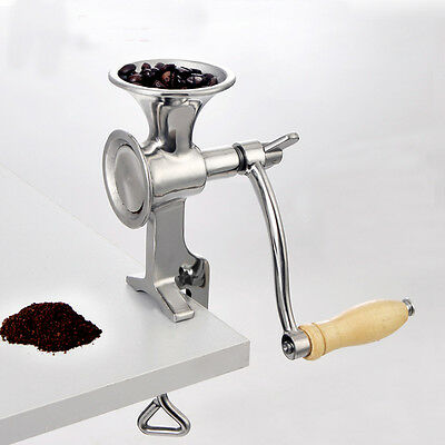 Pro Stainless Steel Manual Nuts Beans Coffee Grinder Grain Corn Herb Seeds Mill