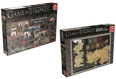Game of Thrones Puzzle / 3x500 Teile Sammelbox 1 oder 1000 Teile / Jumbo