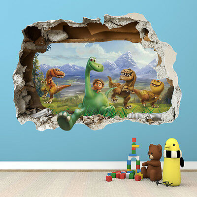 The Good Dinosaur Wall Sticker - 3D Smashed Bedroom Boys Girls Wall Art Decal 2