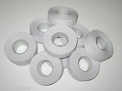 10x Rolls of White Paper Labels 16x23mm for Motex / MX-6600 / CN-6600 / 6600 etc