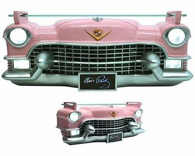 Elvis Resin Pink Cadillac Wall Shelf with Lights