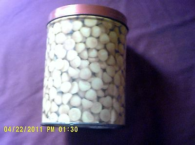 Vintage Cookie Popper's Tin Can 5 1/2 in by 4 round Collectible