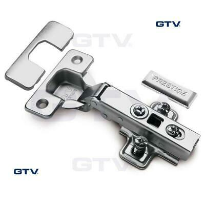 GTV SOFT CLOSE 35mm CABINET KITCHEN DOOR HINGE PLATE + SCREWS HC-09 110°