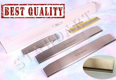 KIA CEED 5D 2013- 4pcs Stainless Steel Door Sill Guard Covers Scuff Protectors