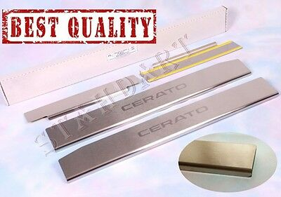 KIA CERATO YD 2013- 4pcs Stainless Steel Door Sill Guard Covers Scuff Protectors