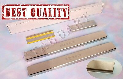 KIA RIO III 2011- 4 pcs Stainless Steel Door Sill Guard Covers Scuff Protectors