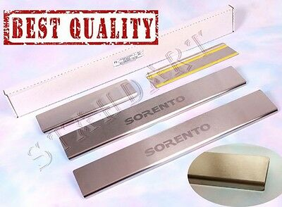 KIA SORENTO 2002-2008 Stainless Steel Door Sill Guard Covers Scuff Protectors