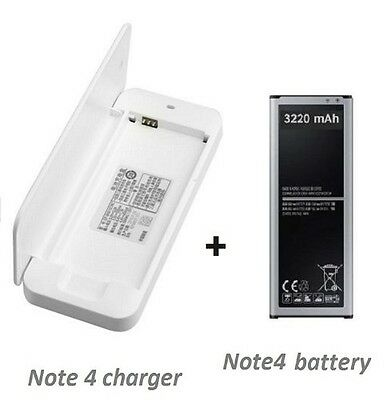 Battery Charger for Samsung Galaxy Note 4 +High capacity Note 4 battery 3220mah