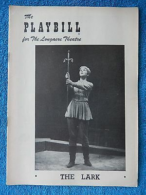 The Lark - Longacre Theatre Playbill - April 16th, 1956 - Julie Harris - Karloff