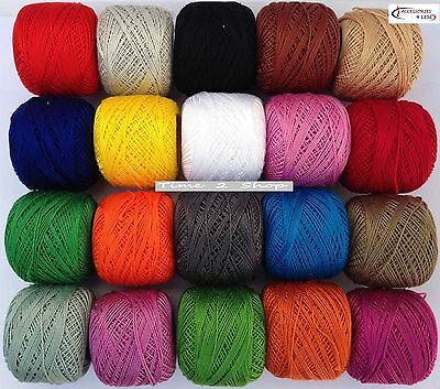 20 ANCHOR Pearl Cotton Balls. Size 8 (85 Meters each), Great Value Pack New