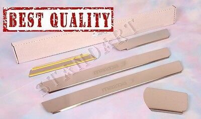 MAZDA 3 2003-2008 4pcs Stainless Steel Door Sill Guard Covers Scuff Protectors