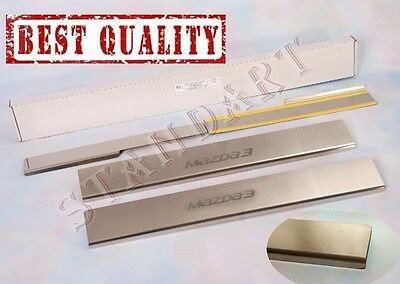 MAZDA 3 2013- 4pcs Stainless Steel Door Sill Guard Covers Scuff Protectors