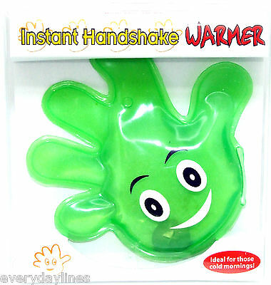 *** Reusable Green Happy Hand Shaped Hand Warmer - Sporting Goods ***