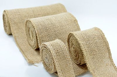 Hessian Jute Burlap Ribbon Vintage Wedding Table RunnerChair Sash Decoration