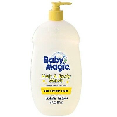 Baby Magic Gentle Hair - Body Wash, Soft Powder Scent 30 oz