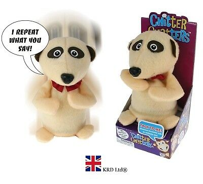 Kids Chitter Chatter Meerkat Repeats Words You Say Funny Talking Soft Toy Gift